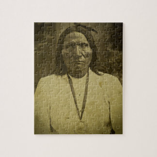 Cheyenne Indian Scout Vintage Stereoview Card Jigsaw Puzzles