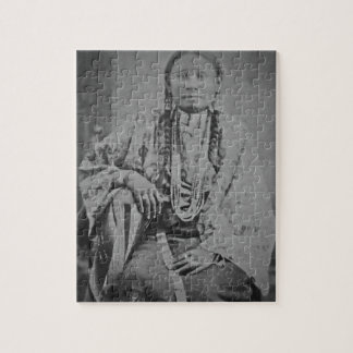 Cheyenne Indian Woman Vintage Stereoview Card Jigsaw Puzzles