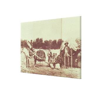 Cheyenne Indians on the Move, 1878 (b/w photo) Canvas Print