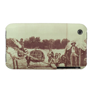 Cheyenne Indians on the Move, 1878 (b/w photo) iPhone 3 Cover