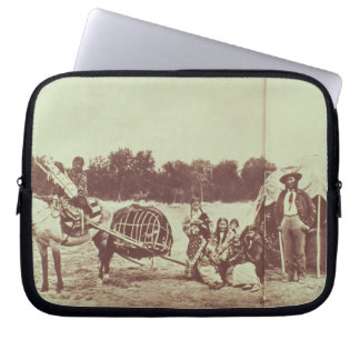Cheyenne Indians on the Move, 1878 (b/w photo) Computer Sleeves