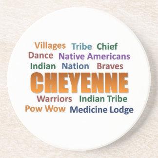 Cheyenne Indians Sandstone Coaster