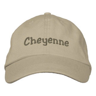 Cheyenne Name Embroidered Baseball Cap Khaki