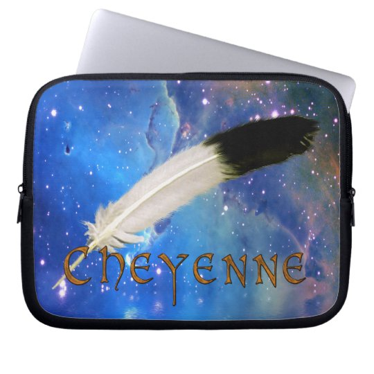 CHEYENNE Nation & Feather Space Laptop Sleeve