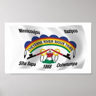Cheyenne River Sioux Flag Poster Print