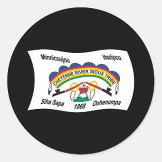 Cheyenne River Sioux Flag Sticker