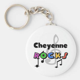 Cheyenne Rocks Basic Round Button Keychain
