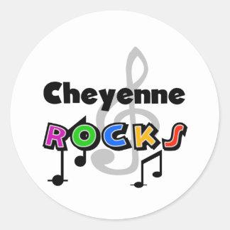 Cheyenne Rocks Classic Round Sticker