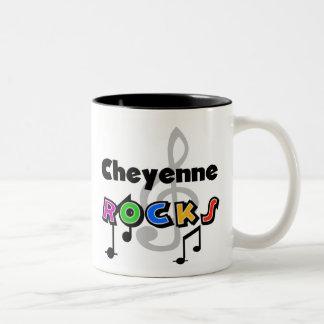 Cheyenne Rocks Two-Tone Coffee Mug
