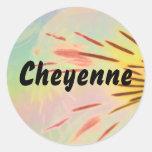 Cheyenne Round Sticker