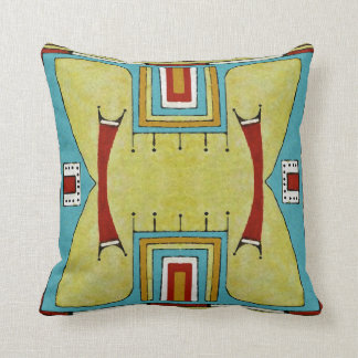 Cheyenne style 1860's parfleche design throw pillow