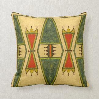 Cheyenne style 1860's parfleche design throw pillow