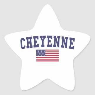 Cheyenne US Flag Star Sticker