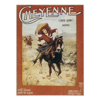 Cheyenne Vintage Songbook Cover Poster