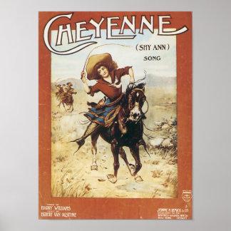 Cheyenne Vintage Songbook Cover Print