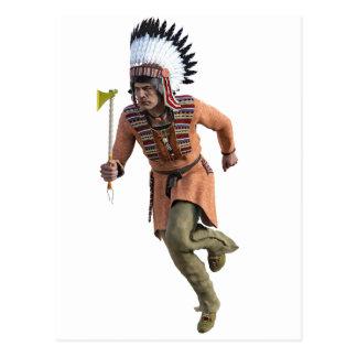 Cheyenne Warrior Chief Running Postcard