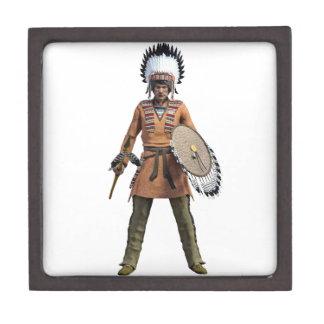 Cheyenne Warrior Chief Standing His Ground Keepsake Box