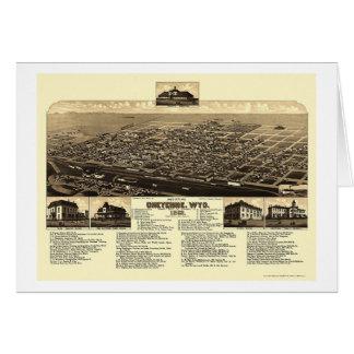 Cheyenne, WY Panoramic Map - 1882 Card