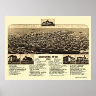 Cheyenne, WY Panoramic Map - 1882 Poster