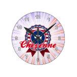 Cheyenne, WY Round Wall Clock