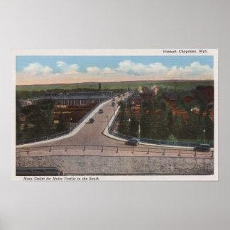 Cheyenne, WY - viaducto y mercado principal para e Impresiones