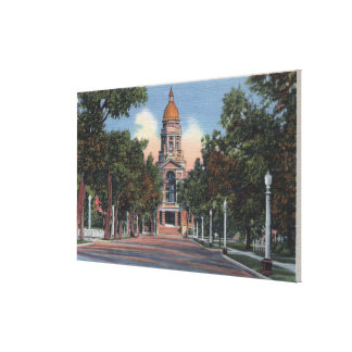 Cheyenne, WY - View of State Capitol and Drivewa Canvas Print