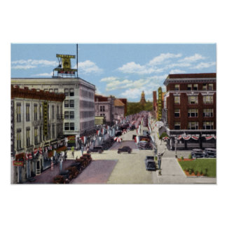 Cheyenne Wyoming Capitol Avenue 1940 Poster