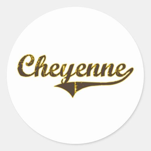 Cheyenne Wyoming Classic Design Sticker