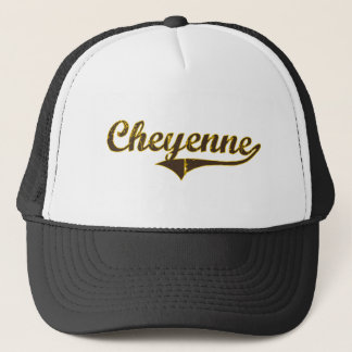 Cheyenne Wyoming Classic Design Trucker Hat