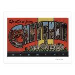 Cheyenne, Wyoming - Large Letter Scenes Postcard