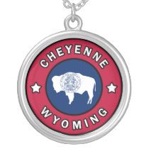 Cheyenne Wyoming Silver Plated Necklace