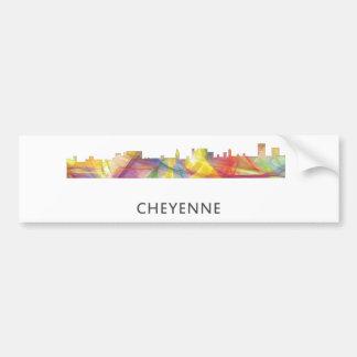 CHEYENNE, WYOMING SKYLINE WB1 - Bumper Sticker