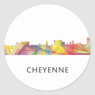CHEYENNE, WYOMING SKYLINE WB1 - Sticker
