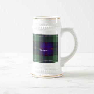 Cheyne clan Plaid Scottish kilt tartan Beer Stein