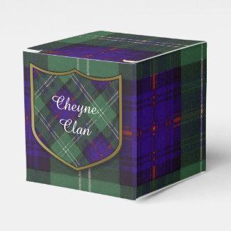 Cheyne clan Plaid Scottish kilt tartan Favor Box
