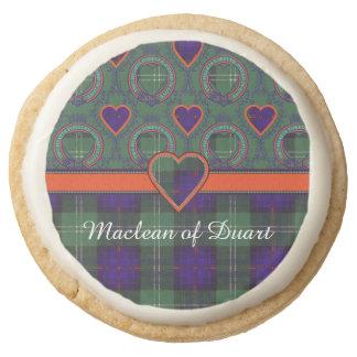 Cheyne clan Plaid Scottish kilt tartan Round Shortbread Cookie
