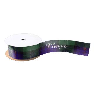 Cheyne clan Plaid Scottish kilt tartan Satin Ribbon