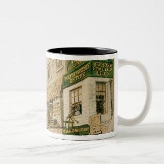 Cheyne Walk, Chelsea, 1857 Two-Tone Coffee Mug