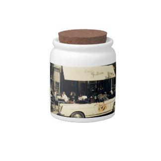 CHez Julien Picturesque Cafe in Paris, France Candy Jar