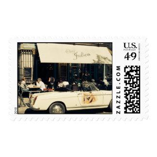 CHez Julien Picturesque Cafe in Paris, France Postage Stamp
