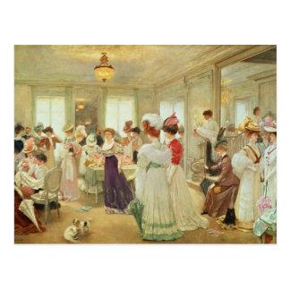 Chez le Couturier Paquin, 1906 de Cinq Heures Tarjetas Postales