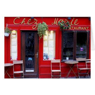 Chez Marie Tarjeta Pequeña