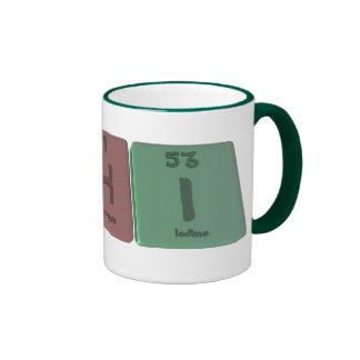 Chi as Carbon Hydrogen Iodine Ringer Mug