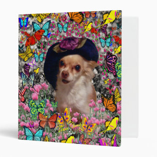 Chi Chi in Butterflies  - Chihuahua Puppy in Hat Binder