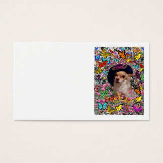 Chi Chi in Butterflies  - Chihuahua Puppy in Hat Business Card