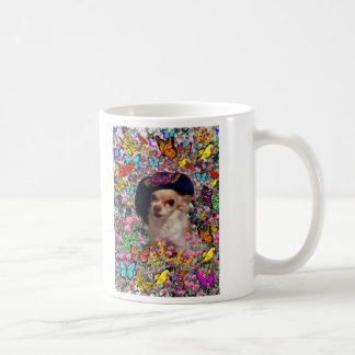 Chi Chi in Butterflies  - Chihuahua Puppy in Hat Coffee Mug