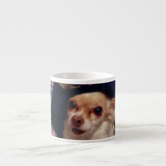 Chi Chi in Butterflies  - Chihuahua Puppy in Hat Espresso Cup
