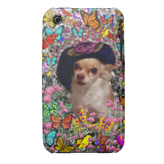 Chi Chi in Butterflies  - Chihuahua Puppy in Hat iPhone 3 Case