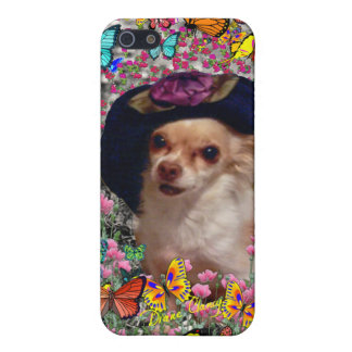 Chi Chi in Butterflies - Chihuahua Puppy in Hat iPhone SE/5/5s Case