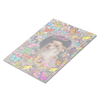 Chi Chi in Butterflies  - Chihuahua Puppy in Hat Memo Note Pad